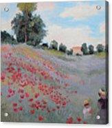 Summer Landscape Oil Painting Acrylic Print
