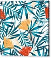 Summer Trend Seamless Background Acrylic Print