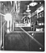 Sun Flare On Train Acrylic Print