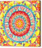Sun Mandala Acrylic Print