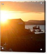 Sun Rise At Lyme Regis  Acrylic Print