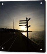 Sun Rise Sign Acrylic Print