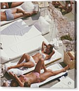 Sunbathers At Eden Roc Acrylic Print