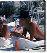 Sunbathing In Antibes Acrylic Print