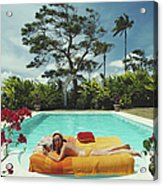 Sunbathing In Barbados Acrylic Print