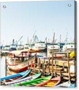 Sunda Kelapa Old Harbour  With Fishing Acrylic Print