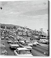 Sunday Traffic In Laguna Beach Acrylic Print
