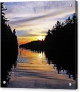 Sundown On The River Acrylic Print
