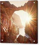 Sunflare Through Arch Of Keyhole Acrylic Print