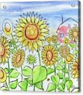 Sunflower Gods Acrylic Print