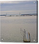 Sunken Sailboat In The Bay Acrylic Print