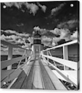 Sunny Skies At Marshall Point In Black And White Acrylic Print