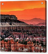 Sunrise At Bryce Canyon Acrylic Print