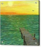Sunrise At The Dock Acrylic Print