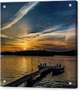Sunrise Dog Lake Acrylic Print