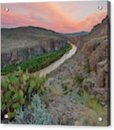 Sunrise In Big Bend Along The Hot Springs Trail 1 Acrylic Print