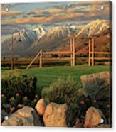 Sunrise In Carson Valley Acrylic Print