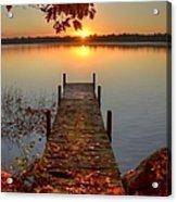 Sunrise On Pelican Lake Acrylic Print