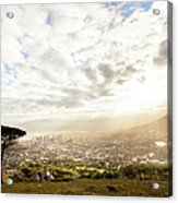 Sunrise Over Cape Town South Africa Acrylic Print