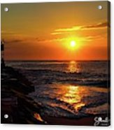 Sunrise Over Indian River Inlet Acrylic Print