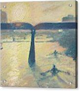 Sunrise Rowers On Lady Bird Lake Austin Acrylic Print