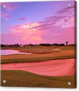 Sunrise View Of A Resort On A Golf Acrylic Print