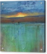 Sunset - Abstract Landscape Painting Acrylic Print