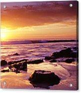 Sunset At Laguna Beach Acrylic Print