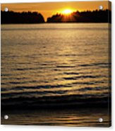 Sunset Beach Vancouver Island 2 Acrylic Print