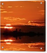 Sunset Behind Clouds Two Acrylic Print