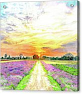 Sunset - Colors Of Nature Acrylic Print