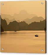 Sunset, Halong Bay, Vietnam Acrylic Print