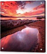 Sunset Harmony At Kiva Beach Acrylic Print