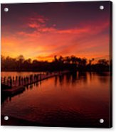 Sunset In Angkor Acrylic Print