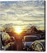 Sunset In Parking Lot 2 Acrylic Print