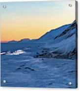 Sunset In The Arctic Acrylic Print