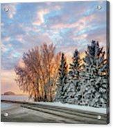 Sunset In Winter Acrylic Print