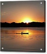 Sunset Kayaking In Lake Of The Isles Acrylic Print
