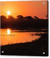 Sunset On The Chobe River Acrylic Print