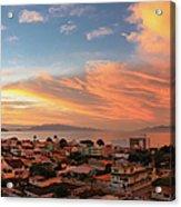 Sunset Over Florianopolis Acrylic Print