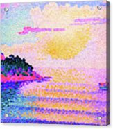Sunset Over The Sea - Digital Remastered Edition Acrylic Print