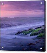 Sunset Surf On The Gulf Of Mexico, Venice, Florida Acrylic Print