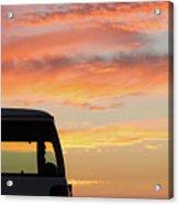 Sunset With The Van Acrylic Print