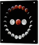 Super Blood Wolf Moon Eclipse Acrylic Print