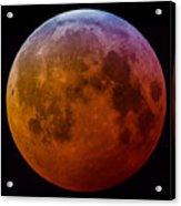Super Wolf Blood Moon Lunar Eclipse Of 2019 Acrylic Print