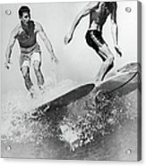 Surf Board With Super-slick 1961 Acrylic Print