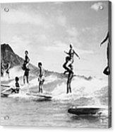 Surf Stunts Acrylic Print