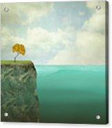 Surreal Illustration Of A Small Tree Acrylic Print