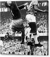 Svenson And Pele In Action In Stockholm Acrylic Print