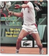 Sweden Bjorn Borg, 1981 French Open Sports Illustrated Cover Acrylic Print